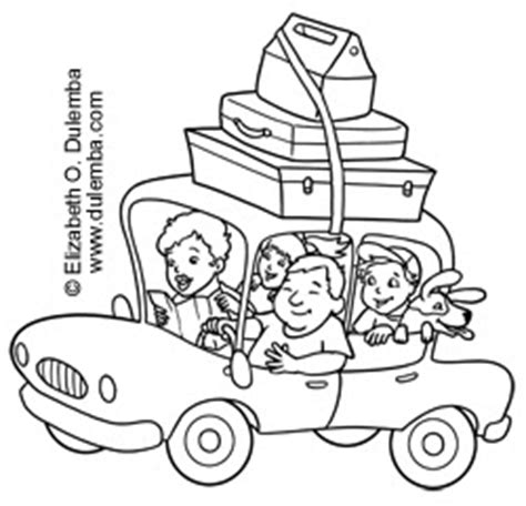 dulemba: Coloring Page Tuesday - Vacation!
