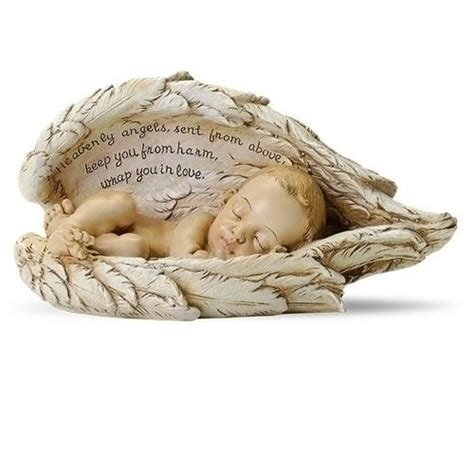 Sleeping Baby in Angel Wings Statue – The Catholic Gift Store