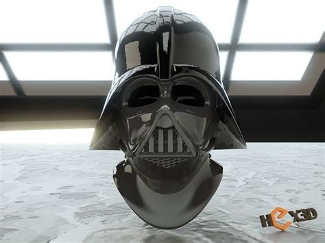 3D Printable Darth Vader Helmet - With Reveal Face Mask 3D
