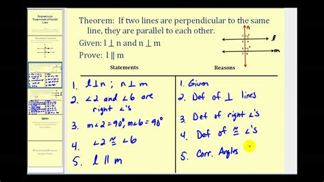 Perpendicular Transversals of Parallel Lines - YouTube