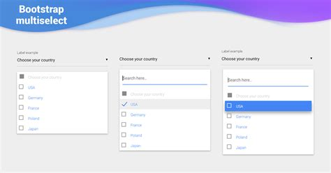 React Multiselect - Bootstrap 4 & Material Design