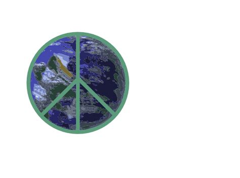 Peace With Earth Clip Art at Clker