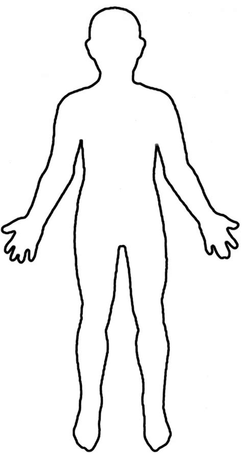 Library of human body model clip black and white png files
