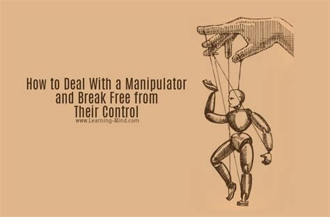 How to Deal With a Manipulator and Break Free from Their