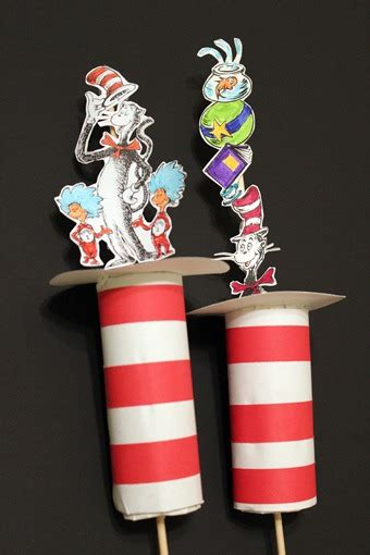 """Cardboard Tube """"Cat in the Hat"""" Pop-Ups 