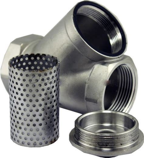 """1/4"""" to 2"""" Stainless Steel Y Strainer Single Flow Direction"""