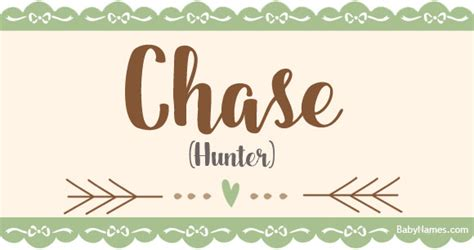 Chase - Meaning of name Chase at BabyNames
