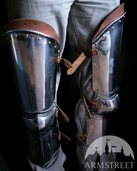 Medieval Western Armor Legs Cold-rolled With Large Knee