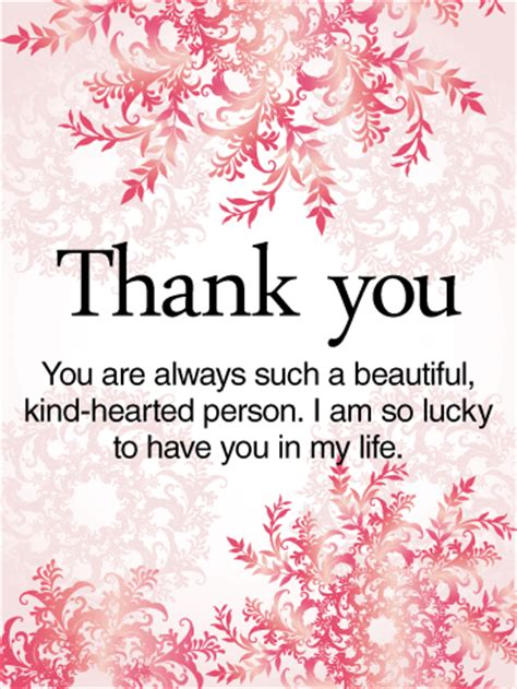 To a Kind-Hearted Person - Thank You Card | Birthday