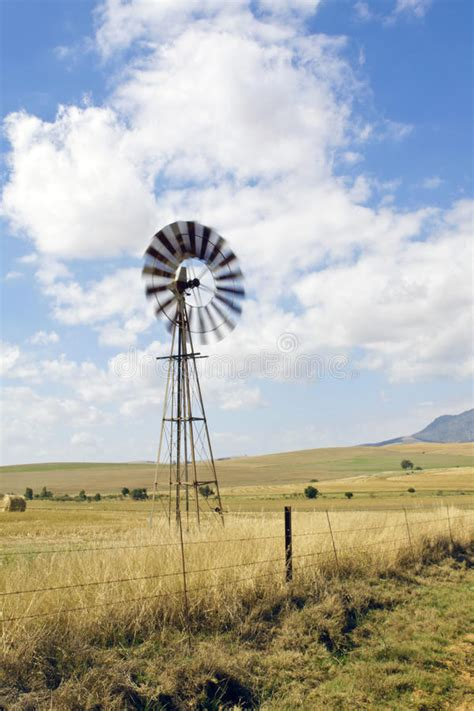 Windmill On A Farm In South Africa Stock Photo - Image