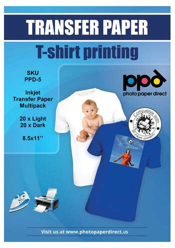 PPD Inkjet Iron-On Mixed Light and Dark Transfer Paper 8