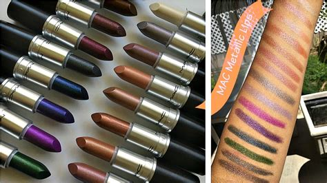 MAC Metallic Lipstick Collection + Swatches! *ALL 18