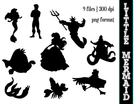 The Little Mermaid Silhouettes // Disney by