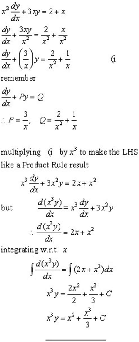 DIFFERENTIAL EQUATIONS, integration from A-level Maths Tutor