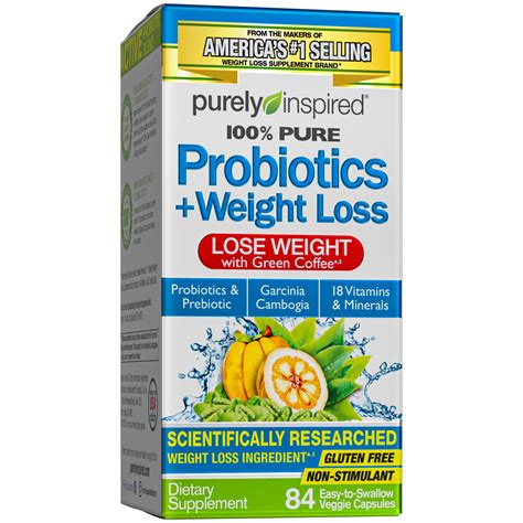 Purely Inspired, Probiotics + Weight Loss Tablets