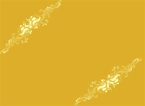 Yellow Ornaments Templates for Powerpoint Presentations