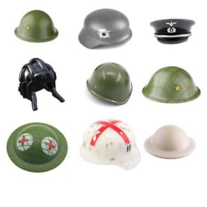 WW2 ARMY Helmets & Hats Printed Pieces for Lego