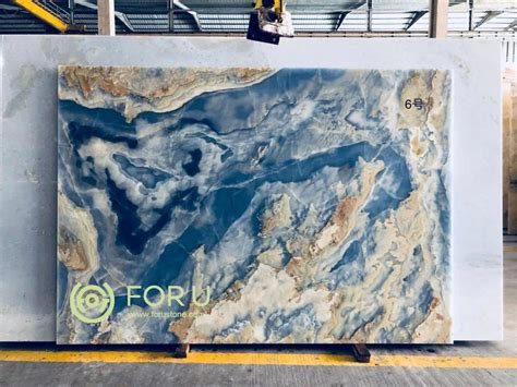 Blue Onyx Marble Stone Slabs Manufacturers and Suppliers