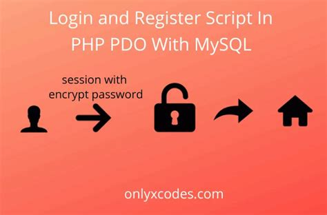 Login and Register Script In PHP PDO With MySQL - onlyxcodes