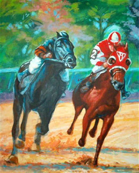 Seabiscuit War Admiral Race of the Century Art Print Painting