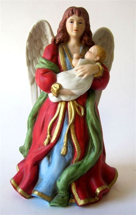 Homco Porcelain Angel Holding Baby No